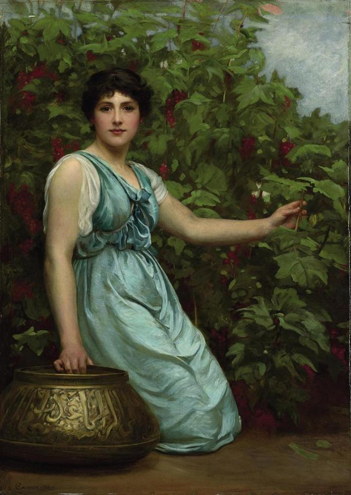 Summer Berries, by Philip Hermogenes Calderon, 1883